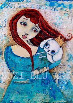 Suzi Blu Art Saved a Child Like Me Mixed Media Giclee Print by Suzi Blu