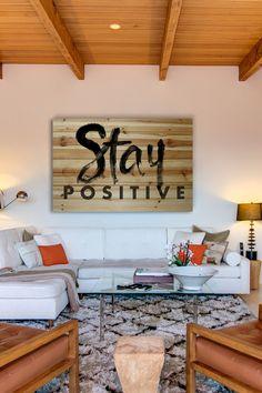 Positive living room.