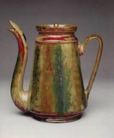 George Edgar Ohr (1857-1918) - Coffee Pot. Biloxi, Mississippi.