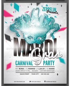 Carnival Party Flyer Template  Party Flyer Templates For Clubs