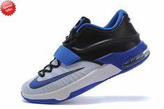 Mens KDVII-017 White Blue Black Nike KD VII Store Online 1YP6O7