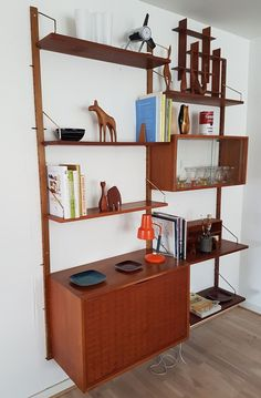 u0027royal systemu0027 modular wall unit by poul cadovious for cado denmark a example with three wall uprights one four drawer unit one laru2026