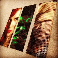 Black Widow, Hulk and Thor - Avengers perler pixel art by caveofpixels
