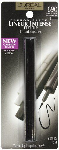 LOreal Paris Lineur Intense Felt Tip Liquid Eyeliner Carbon Black 005Fluid Ounce 3 Ea Pack of 3 ** Find out more about the great product at the image link.
