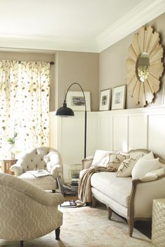Neutral sitting area