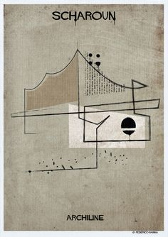 Gallery - Federico Babina's ARCHILINE Paints the Essence of Architecture's Greatest Works - 16