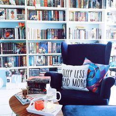 Today's reading nook ❤️ #readingnook #bookshelves #bookshelfporn