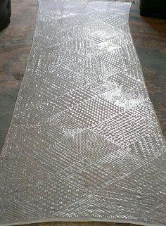1920s Assuit Shawl. Art Deco Geometric all over pattern.