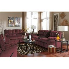 Signature Design by Ashley Julson - Burgundy Casual Contemporary Sofa - Del Sol Furniture - Sofa Phoenix, Glendale, Tempe, Scottsdale, Arizona