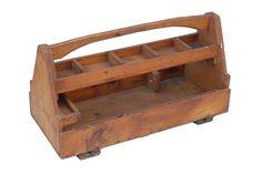 "Vintage American carpenters' tool box. CIRCA: 1900's DIMENSIONS: 14.5"" h x 31.5"" w x 14"" d"