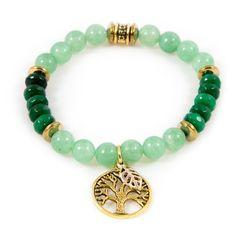 """Fern Green """"Tree of Life"""" Bracelet  $11"""