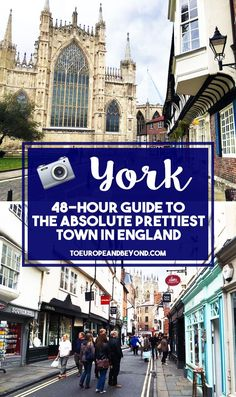"""If what you're after is an idyllic English town that perfectly embodies what we, foreigners, imagine England to be like (heaps of history, cream tea, quaint pubs, welcoming locals that call you """"luv""""; the usuals) then you absolutely must visit York. #travel #england #york"""