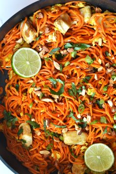 Using Nakano Rice Vinegar in this Sweet Potato Chicken Pad Thai is an easy way to add flavor to this Whole30 and paleo recipe that reminds you of the classic recipe!
