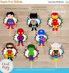 50% OFF SALE Superhero Centerpiece Superhero Table por ClickParty