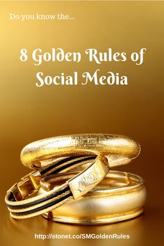 Do you know the 8 golden rules of social media? http://stonet.co/SMGoldenRules