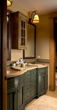 Rustic Elegance   rustic   Bathroom   Rocky Mountain Log HomesLog Cabin Love  Summer Edition  Adore Your Place   Interior Design  . Mountain Cabin Bathroom Designs. Home Design Ideas