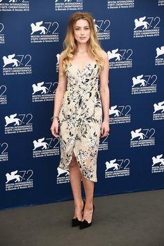"Amber Heard in Zimmerman attends ""The Danish Girl"" during the 2015 Venice Film Festival. #bestdressed"
