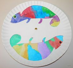 Tippytoe Crafts: Colorful Chameleons