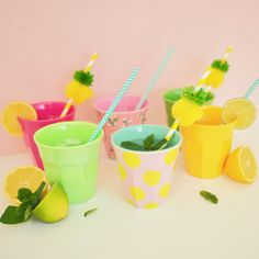 e529cb9e7c4 funky melamine by GINGER Lifestyle and RICE.DK and fun pineapple pompom  straws by Sunnylife