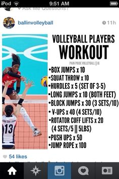 Volleyball Workout ... if you want Jump More!