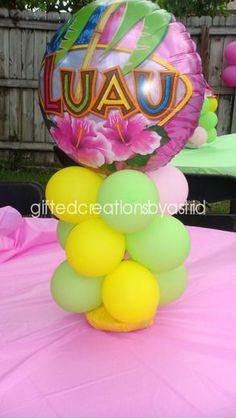 "Photo 2 of 15: Hawaiian Luau / Birthday ""Pretty Pink Luau"" | Catch My Party"