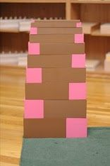 pink tower brown stair extensions