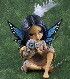 American Indian Butterfly figurine