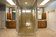 Owner's Spa Bath Design With Custom Cabinets Located in Cadence in Canton, Georgia