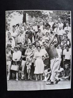 Arnold Palmer Original ARNIE'S ARMY pga PA. 1962 press photo vintage Golf listed by sugarnspice777 at ebay 10-3-16