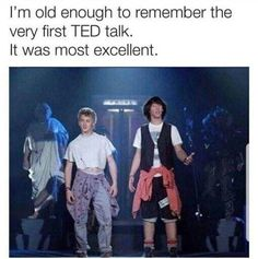 🤣 yes 🙌🏽 billandted tedtalks mostexcellent funnymemes funny lol lmao lmfao laugh laughing fun friends wacky crazy silly witty joke jokes joking funnypictures haha humor 808 Ted Talks, Memes Humor, Funny Jokes, 90s Memes, Movie Memes, Funniest Memes, Funny Fails, Humor Humour, Funny Tweets