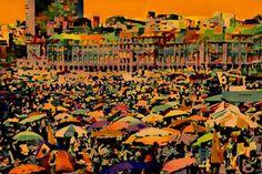 """Saatchi Art Artist ACQUA LUNA; Painting, """"48-Ciudad feliz."""" #art"""