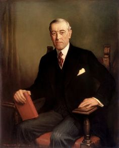 Woodrow Wilson ~ President of the United States of America, March 1921 ~ F. Graham Cootes painted this 1936 portrait of Woodrow Wilson. The painting hangs above the Grand Staircase in the White House, along with portraits of other century Presidents. List Of Presidents, American Presidents, American History, American Soldiers, British History, American Girl, Native American, Franklin Roosevelt, Theodore Roosevelt