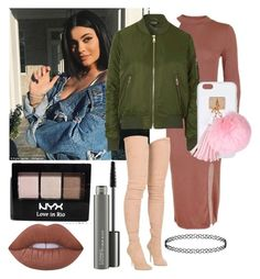 """""""Out with Kylie"""" by diva-fashionista ❤ liked on Polyvore featuring Derriére, Topshop, Ashlyn'd, Balmain, MAC Cosmetics, NYX and Lime Crime"""