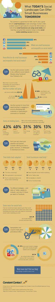 Una #infografica su come le piccole aziende possono utilizzare la pausa estiva per migliorare il loro #business sui #socialmedia