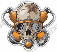 "Dead Scuba Diver Skull Deep Sea Dive Car Bumper Window Vinyl Sticker Decal 4.6"" - http://scuba.megainfohouse.com/dead-scuba-diver-skull-deep-sea-dive-car-bumper-window-vinyl-sticker-decal-4-6/"