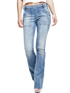 EUR119.90$  Buy now - http://viwug.justgood.pw/vig/item.php?t=eblm1o44605 - FLARED JEANS WITH HIGH WAIST EUR119.90$