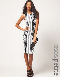ASOS Bodycon Dres In Rocco Print
