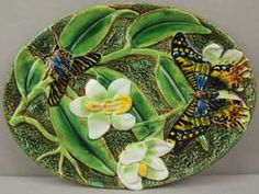 George Jones Butterfly dresser tray ~   circa 1870 ~ English