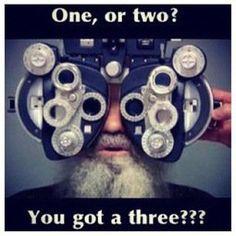 You got a 3? #OptometryJokes