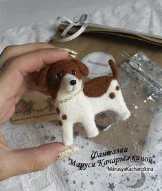Needle felted brooch dog Wool brooch Miniature felt dog