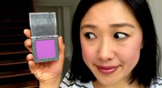 Purple blush is the latest trend, and we were scared when we saw the ultra-bright hue of the Urban Decay Afterglow blush in Bittersweet. Purple Blush, Blush Color, Colour, Urban Decay Afterglow, Makeup Kit, Makeup Yourself, Orchid, Beauty, Note