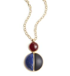 The Neo Nostaglic: A retro-meets-right-now stunner with a penchant for suede, and a bohemian touch with this Lydell NYC Reysa Pendant Neckace.