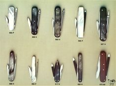 Old, traditional, Hen & Rooster pocket knives