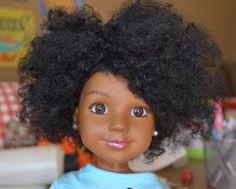 Natural hair dolls - diy! =) love it