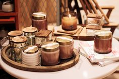 Aspen Bay Candles...They create a warm and cozy home environment with a delightful aroma. They come in a variety of scents so come into our Entwine store in the Fayette Mall located in Lexington, Ky!!