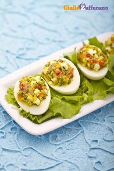 Stuffed Egg Recipes By Cooking Chef Egg Recipes, Appetizer Recipes, Snack Recipes, Appetizers, Healthy Recipes, Snacks, Antipasto, Omelettes, Feta