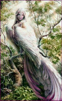 Beautiful bird/woman art
