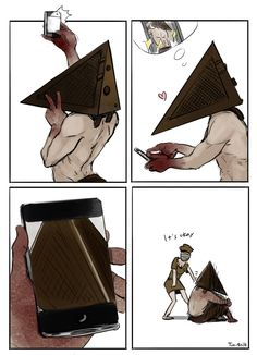 Pyramid Head take selfie