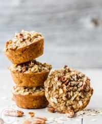 These Banana & Peanut Butter Baked Oatmeal Cups are a healthy breakfast or an easy snack that are filled with natural protein to keep your tummy full and tastebuds happy! Gluten free, refined-sugar free and a breeze to make, these will quickly become your favourite grab and go healthy treat | on myrecipemagic.com