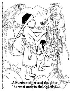 free download native american indian coloring page children huron iroquois